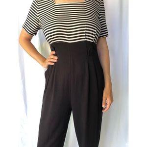 Vintage Pants - VINTAGE   Jumpsuit with square neckline and pleats